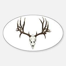 Deer skull Sticker (Oval)