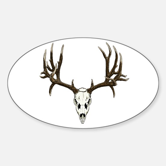 Deer skull Sticker (Oval)
