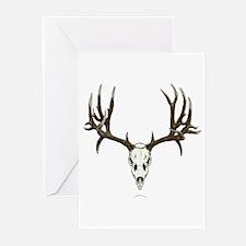 Deer skull Greeting Cards (Pk of 20)