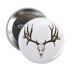 "Deer skull 2.25"" Button"