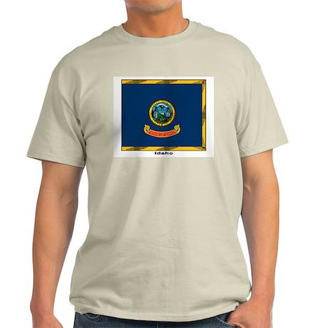 Idaho State Flag (Front) Ash Grey T-Shirt