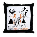 Leukemia Awareness Throw Pillow