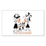 Leukemia Awareness Sticker (Rectangle 50 pk)