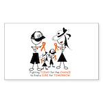 Leukemia Awareness Sticker (Rectangle 10 pk)