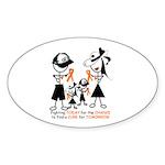 Leukemia Awareness Sticker (Oval 10 pk)