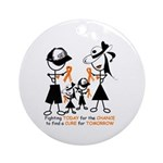 Leukemia Awareness Ornament (Round)