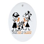 Leukemia Awareness Ornament (Oval)