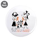 """Leukemia Awareness 3.5"""" Button (10 pack)"""