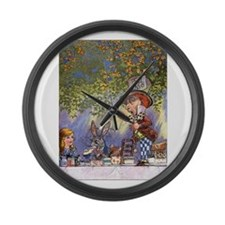 The Tea Party, Pt. 2 Large Wall Clock