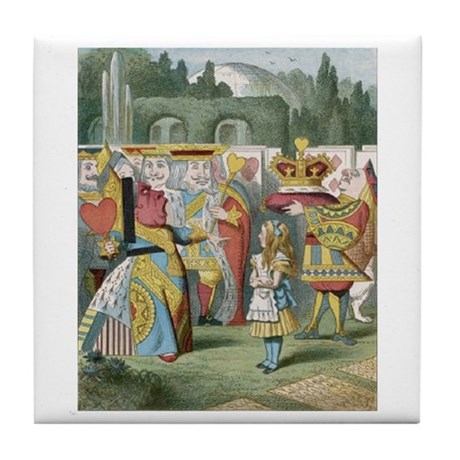 Alice and the Queen Tile Coaster