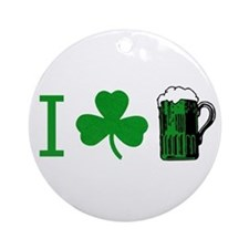 Cute St. patrick Ornament (Round)