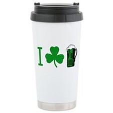 Cute Green beer Travel Mug
