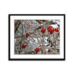 Frozen Berries Framed Panel Print