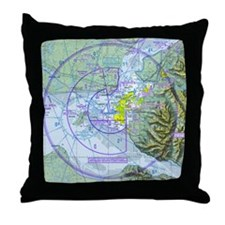 ANC Airspace Chart Throw Pillow