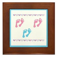 Triple Set of Footprints - 2 Framed Tile