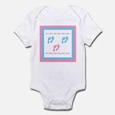 Triple Set of Footprints - 2 Infant Bodysuit