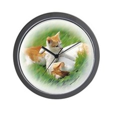 """Kitten and Cat"" Wall Clock"