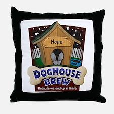 Doghouse Brew Throw Pillow