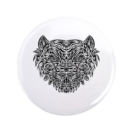 "Tribal Tiger 3.5"" Button"