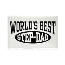 World's Best Step Dad Rectangle Magnet