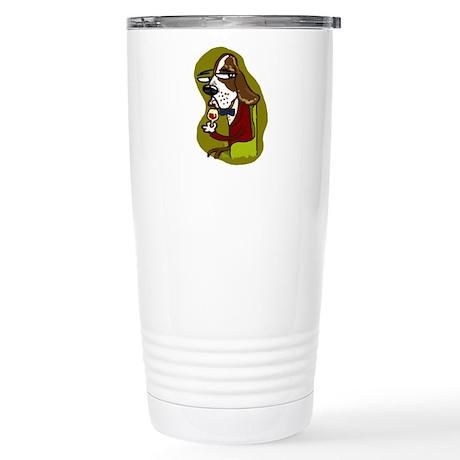 Wine Hound Stainless Steel Travel Mug