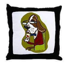 Wine Hound Throw Pillow