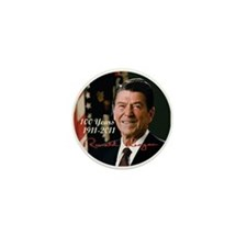 Remembering Reagans -100th Mini Button