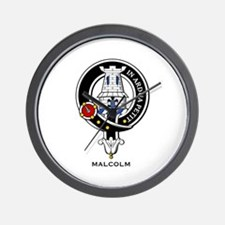Malcolm Clan Crest Badge Wall Clock