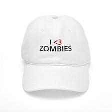 I <3 Zombies Baseball Cap