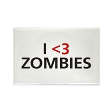 I <3 Zombies Rectangle Magnet