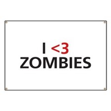 I <3 Zombies Banner
