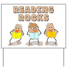 Reading Rocks Yard Sign