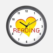 Reading Hearts Wall Clock