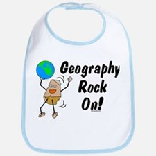 Geography Rock On Bib