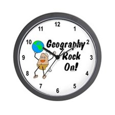 Geography Rock On Wall Clock