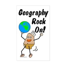 Geography Rock On Decal