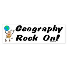 Geography Rock On Bumper Sticker