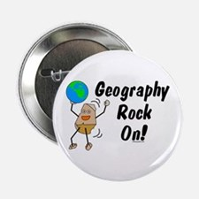 """Geography Rock On 2.25"""" Button"""