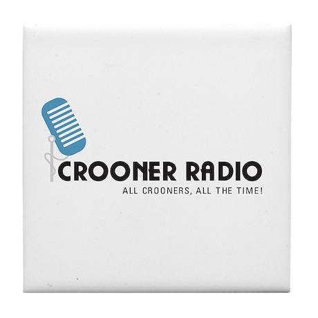Crooner Radio T-shirt Tile Coaster