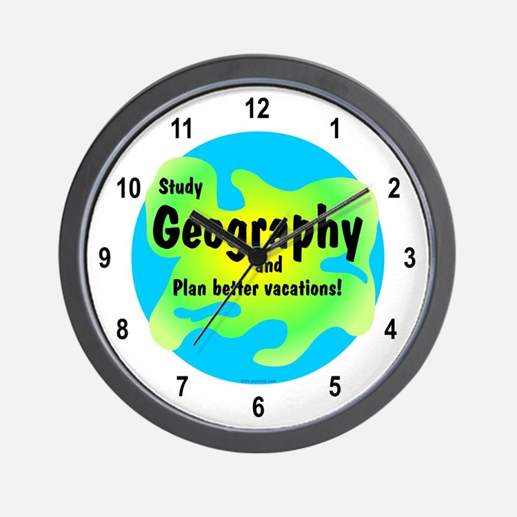 Geography Wall Clock