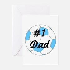 Number 1 Dad Greeting Cards (Pk of 10)