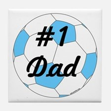 Number 1 Dad Tile Coaster