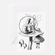 Alice & the Caterpillar Greeting Card