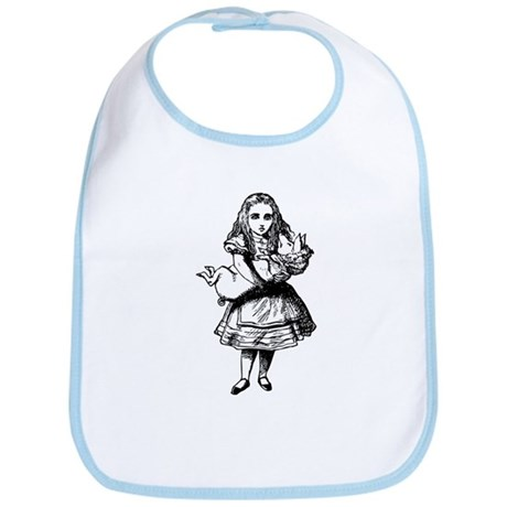 Alice and the Pig Baby Bib