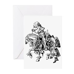 Alice and the White Knight Greeting Cards (Pk of 1