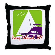 Sailing Long Island Throw Pillow
