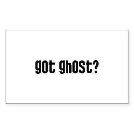 Got Ghost? Sticker (Rectangle)