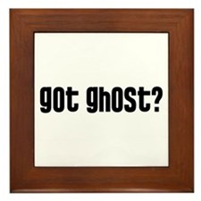Got Ghost? Framed Tile