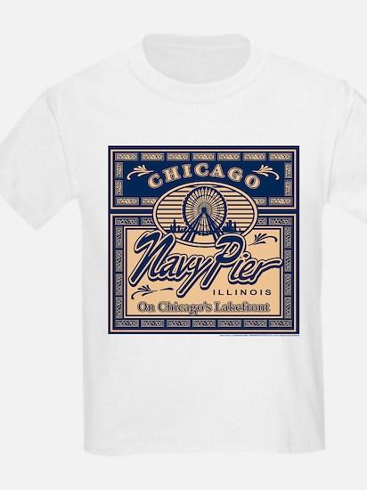 Navy Pier Box Design T-Shirt
