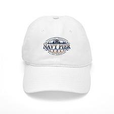 Navy Pier Oval Stylized Skyline design Baseball Cap